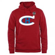 Wholesale Cheap Montreal Canadiens Team Logo Pullover Hoodie Red