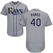 Wholesale Cheap Rays #40 Wilson Ramos Grey Flexbase Authentic Collection Stitched MLB Jersey