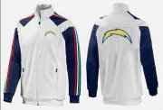 Wholesale Cheap NFL Los Angeles Chargers Team Logo Jacket White