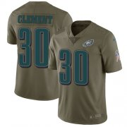 Wholesale Cheap Nike Eagles #30 Corey Clement Olive Men's Stitched NFL Limited 2017 Salute To Service Jersey