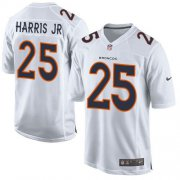 Wholesale Cheap Nike Broncos #25 Chris Harris Jr White Men's Stitched NFL Game Event Jersey