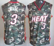 Wholesale Cheap Miami Heat #3 Dwyane Wade Camo Fashion Jersey