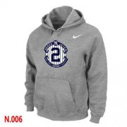 Wholesale Cheap Nike New York Yankees #2 Derek Jeter Official Final Season Commemorative Logo Pullover Hoodie Light Grey