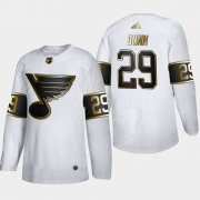Wholesale Cheap St. Louis Blues #29 Vince Dunn Men's Adidas White Golden Edition Limited Stitched NHL Jersey