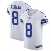 Wholesale Cheap Nike Cowboys #8 Troy Aikman White Men's Stitched NFL Vapor Untouchable Elite Jersey