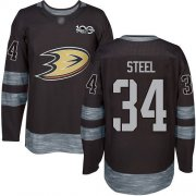 Wholesale Cheap Adidas Ducks #34 Sam Steel Black 1917-2017 100th Anniversary Stitched NHL Jersey