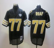 Wholesale Cheap Mitchell And Ness Saints #77 Willie Roaf Black Stitched NFL Jersey