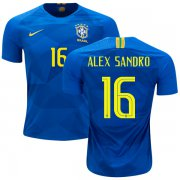 Wholesale Cheap Brazil #16 Alex Sandro Away Kid Soccer Country Jersey
