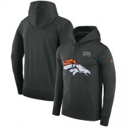 Wholesale Cheap NFL Men's Denver Broncos Nike Anthracite Crucial Catch Performance Pullover Hoodie