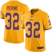 Wholesale Cheap Nike Redskins #32 Samaje Perine Gold Youth Stitched NFL Limited Rush Jersey
