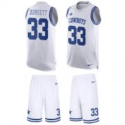 Wholesale Cheap Nike Cowboys #33 Tony Dorsett White Men's Stitched NFL Limited Tank Top Suit Jersey