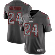 Wholesale Cheap Nike Patriots #24 Stephon Gilmore Gray Static Men's Stitched NFL Vapor Untouchable Limited Jersey