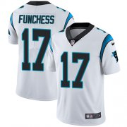 Wholesale Cheap Nike Panthers #17 Devin Funchess White Men's Stitched NFL Vapor Untouchable Limited Jersey