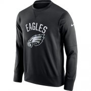 Wholesale Cheap Men's Philadelphia Eagles Nike Black Sideline Circuit Performance Sweatshirt