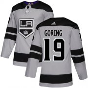 Wholesale Cheap Adidas Kings #19 Butch Goring Gray Alternate Authentic Stitched NHL Jersey