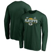Wholesale Cheap Green Bay Packers 2019 NFL Playoffs Bound Chip Shot Long Sleeve T-Shirt Green
