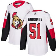 Wholesale Cheap Adidas Senators #51 Artem Anisimov White Road Authentic Stitched NHL Jersey