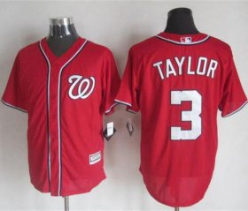 Wholesale Cheap Nationals #3 Michael Taylor Red New Cool Base Stitched MLB Jersey