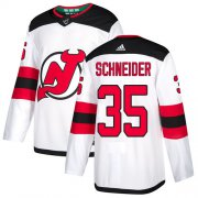 Wholesale Cheap Adidas Devils #35 Cory Schneider White Road Authentic Stitched Youth NHL Jersey