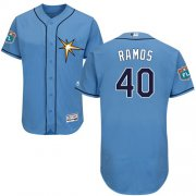 Wholesale Cheap Rays #40 Wilson Ramos Light Blue Flexbase Authentic Collection Stitched MLB Jersey