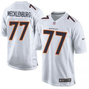 Wholesale Cheap Nike Broncos #77 Karl Mecklenburg White Men's Stitched NFL Game Event Jersey