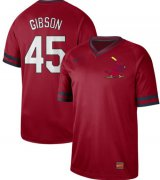 Wholesale Cheap Nike Cardinals #45 Bob Gibson Red Authentic Cooperstown Collection Stitched MLB Jersey