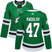 Wholesale Cheap Adidas Stars #47 Alexander Radulov Green Home Authentic Women's Stitched NHL Jersey