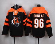 Wholesale Cheap Nike Bengals #96 Carlos Dunlap Black Player Pullover NFL Hoodie