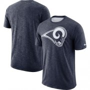 Wholesale Cheap Men's Los Angeles Rams Nike Navy Sideline Cotton Slub Performance T-Shirt