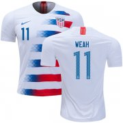 Wholesale Cheap USA #11 Weah Home Soccer Country Jersey