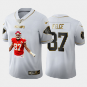 Cheap Kansas City Chiefs #87 Travis Kelce Nike Team Hero 2 Vapor Limited NFL 100 Jersey White Golden