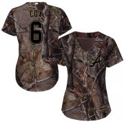 Wholesale Cheap Braves #6 Bobby Cox Camo Realtree Collection Cool Base Women's Stitched MLB Jersey