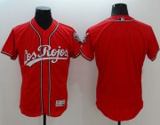 Wholesale Cheap Reds Blank Red Flexbase Authentic Collection Los Rojos Stitched MLB Jersey