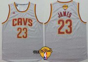 Wholesale Cheap Men's Cleveland Cavaliers #23 LeBron James 2015 The Finals New Gray Jersey