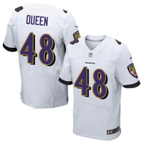 Wholesale Cheap Nike Ravens #48 Patrick Queen White Men\'s Stitched NFL New Elite Jersey