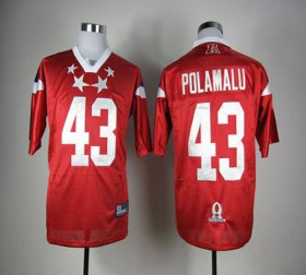 Wholesale Cheap Steelers #43 Troy Polamalu Red 2012 Pro Bowl Stitched NFL Jersey