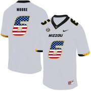 Wholesale Cheap Missouri Tigers 6 J'Mon Moore White USA Flag Nike College Football Jersey