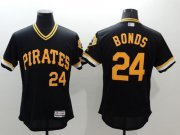 Wholesale Cheap Pirates #24 Barry Bonds Black Flexbase Authentic Collection Cooperstown Stitched MLB Jersey