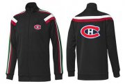 Wholesale Cheap NHL Montreal Canadiens Zip Jackets Black-2