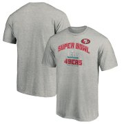 Wholesale Cheap Men's San Francisco 49ers NFL Heather Gray Super Bowl LIV Bound Heart & Soul T-Shirt