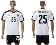 Wholesale Cheap Austria #25 Ivanschitz White Away Soccer Country Jersey