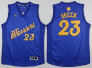 Wholesale Cheap Men's Golden State Warriors #23 Draymond Green adidas Royal Blue 2016 Christmas Day Stitched NBA Swingman Jersey