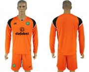 Wholesale Cheap Celtic Blank Orange Goalkeeper Long Sleeves Soccer Club Jersey