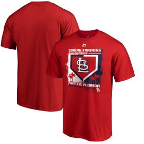 Wholesale Cheap St. Louis Cardinals Majestic 2019 Spring Training Base On Ball T-Shirt Red