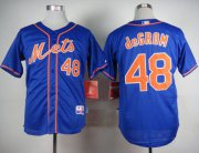 Wholesale Cheap Mets #48 Jacob DeGrom Blue Alternate Home Cool Base Stitched MLB Jersey