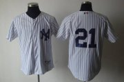Wholesale Yankees #21 Paul O'Neill White Cooperstown Stitched Baseball Jersey