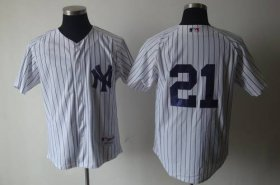 Wholesale Cheap Yankees #21 Paul O\'Neill White Cooperstown Stitched MLB Jersey