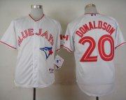 Wholesale Cheap Blue Jays #20 Josh Donaldson White 2015 Canada Day Stitched MLB Jersey