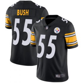 Wholesale Cheap Nike Steelers #55 Devin Bush Black Team Color Men\'s Stitched NFL Vapor Untouchable Limited Jersey