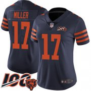 Wholesale Cheap Nike Bears #17 Anthony Miller Navy Blue Alternate Women's Stitched NFL 100th Season Vapor Limited Jersey